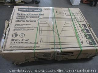 Rubbermaid Horizontal Storage Shed (Please Preview) (Box Damage)