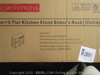 3-Tier Kitchen Stand Baker's Rack (Box Damage)