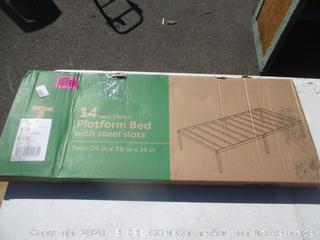 Platform Bed w/Steel Slats Size Twin
