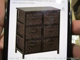 Woven Strap 6 Drawer Chaest