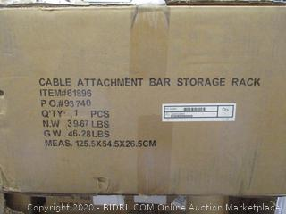 Cable Attachment Bar Storage Rack Incomplete set   See pictures