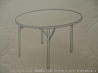 "48"" Round Plastic Folding Table"