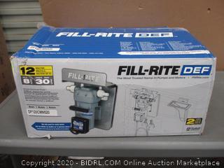 Fill Rite DEF  Diesel Exhaust Fluid / AdBlue dispenser pump