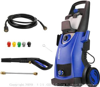 Sun Joe SPX3000-SJB Pressure Joe 2030 PSI 1.76 GPM 14.5-Amp Electric Pressure Washer, Dark Blue (powers on)(Retails $148)(cubby2)