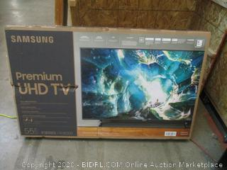 """Samsung Premium UHD TV  55"""" TV  Powers On See Pictures"""