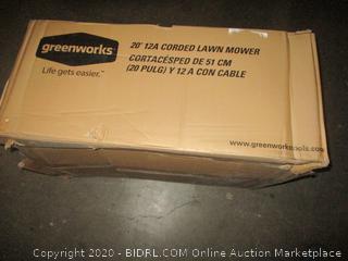 "Greenworks  20"" 12A Cordd Lawn Mower"