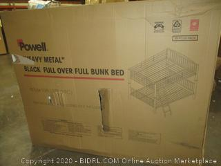 Heavy Metal Black Full over Full Bunk Bed Incomplete set