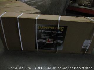 Jumpking  15 ft Combo Trampoline Incomplete set  Box 2 0f 2