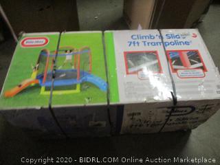 Little tikes Climb n Slide 7ft trampoline