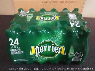 Perrier carbonated mineral water 16.9 fluid ounce bottles 24-pack