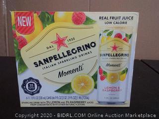 San Pellegrino Italian sparkling drinks momenti lemon and raspberry flavor