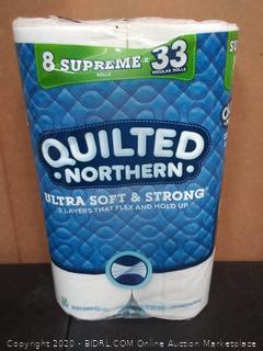 Quilted Northern 8 Supreme toilet paper rolls