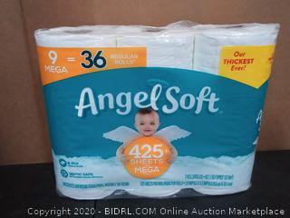 Angel Soft 9 Mega Toilet Paper Rolls 9.00 ct