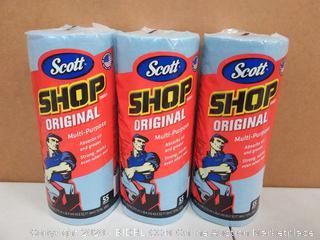Kimberly Clark 75130 Scott Shop Towel Roll 3 pack