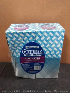 Quilted Northern 3-ply Ultra facial tissues X4