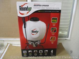 Round up backpack sprayer