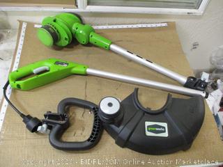 Greenworks string trimmer with trimmer line