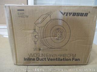 Inline duct ventilation fan