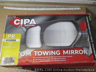 CIPA Black USA 10950 Tow Mirror Pair (2014+ Chevy)
