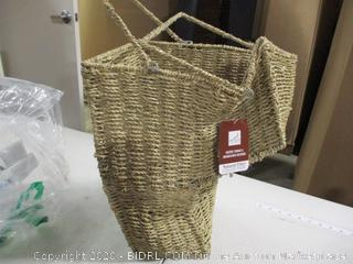 Household Essentials- Seagrass Stair Basket With Handle