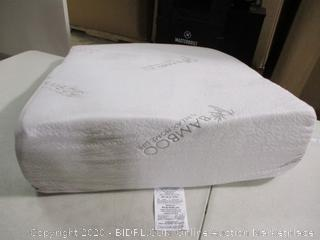 """Relax Home Life- Foam Bed Wedge Bamboo Pillow (26"""" x 25"""" x 7.5"""")"""