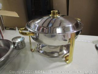 Winware- The Malibu Collection- Round Chafing Dish