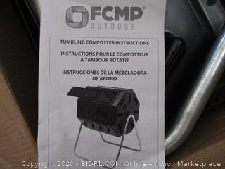 FCMP Outdoor IM4000 Tumbling Composter, 37 gallon, Black (RETAIL $93)