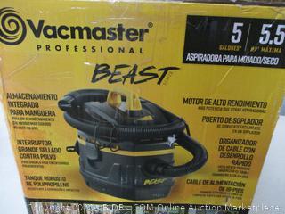 Vacmaster Professional - Professional Wet/Dry Vac, 5 Gallon, Beast Series, 5.5 HP