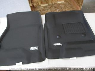 3D MAXpider Front Row Custom Fit All-Weather Floor Mat for Select Chevrolet Equinox/GMC Terrain Models - Kagu Rubber (Black) (RETAIL $92)