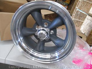 """American Racing VN215 Classic Torq Thrust II 1 Pc Mag Gray Wheel with Center Polished Barrel (15x7""""/5x114.3mm, -6mm offset) (RETAIL $144)"""