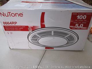 Broan-Nutone  8664RP  Exhaust Fan and 100-Watt Incandescent Light with Glass Lens, Bathroom Ceiling Ventilation Fan, 100-Watts, 100 CFM (RETAIL $105)