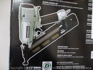 Metabo HPT Finish Nailer, 15 Gauge, Pneumatic, Angled, Finish Nails 1-1/4-Inch up to 2-1/2-Inch, Integrated Air Duster, Selective Actuation Switch, 5-Year  (NT65MA4) (RETAIL $109)