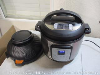 Instant Pot Air Fryer + EPC Combo 8QT Electronic Pressure Cooker (Dented, $161 Retail)