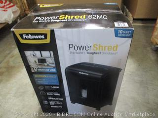 Fellowes 62MC 10-Sheet Micro-Cut Home and Office Paper Shredder