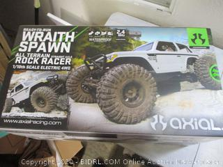 Axial Wraith Spawn 4WD RC Rock Racer (Missing Front Wheel Nuts And Remote,  $369 Retail)