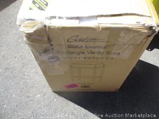 Leather Rectangle Vanity Stool (Box Damage)