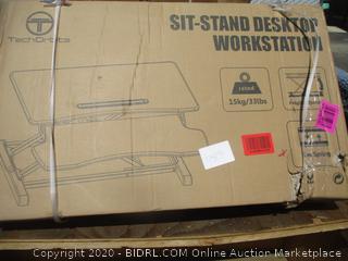 Sit-Stand Desktop Workstation (Please Preview) (Box Damage)