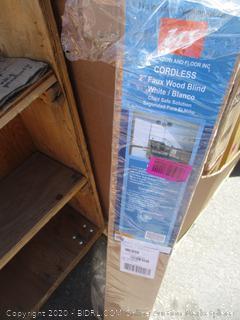 """Cordless 2"""" Faux Wood Blind (Box Damaged)"""