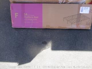 Platform Bed w/ Steel Slats Size Full