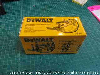 DeWalt Concealer Dual Mold Goggle Eye Protection