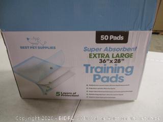 "Best Pet Supplies - Super Absorbent Training Pads, Sealed 50 Pads (36"" x 28"")"