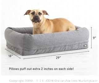 "BarkBox - 2-in-1 Memory Foam Dog Bed (29"" x 18"" x 8"")"