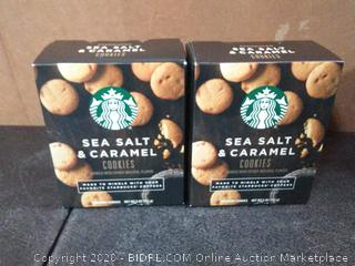 Starbucks sea salt and caramel cookies X2