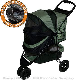 Pet Gear No-Zip Special Edition 3 Wheel Pet Stroller for Cats/Dogs, Zipperless Entry, Easy One-Hand Fold, Removable Liner(Retails $110)