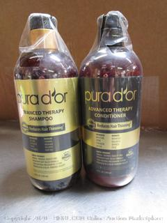 Pura d'or Advanced Therapy Anti-Thinning Shampoo & Conditioner