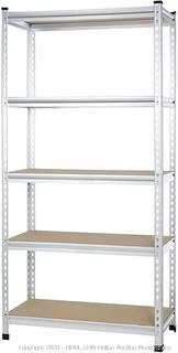 heavy duty aluminum storage rack to post pressboard Shelf