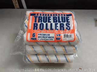 """True Blue Professional 9"""" Paint Roller Covers, Best for All Types of Paint (48, 1/2"""" Nap)"""