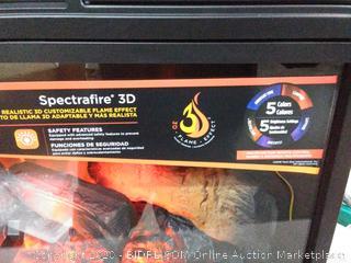 "ClassicFlame 26"" 3D Infrared Quartz Electric Fireplace Insert Plug and Safer Sensor, Black(Retails $379)"