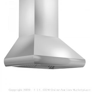 "ZLINE 30"" Remote Dual Blower Stainless Wall Range Hood with 1200 CFM (Retail $918) (587-RD-30)"