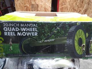 """Sun Joe 20"""" Manual Reel Mower with Grass Catcher"""